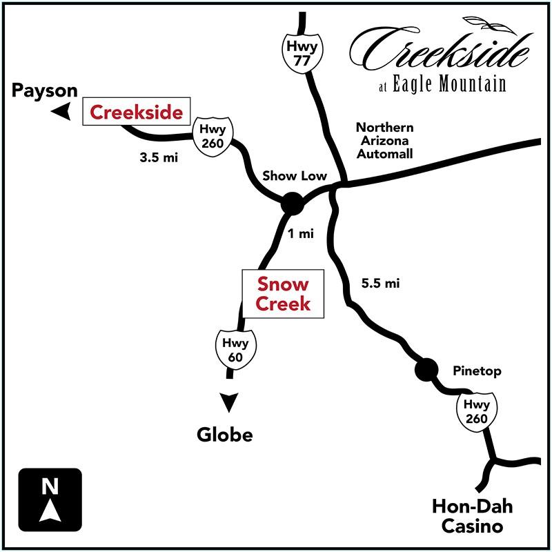 creekside location map